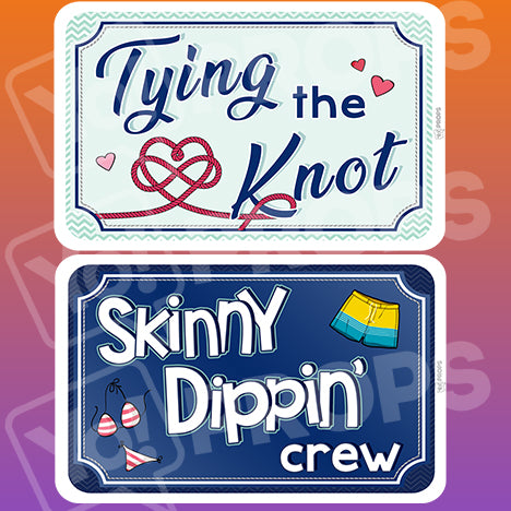 Wedding By The Sea Prop – Tying the Knot / Skinny Dippin' Crew