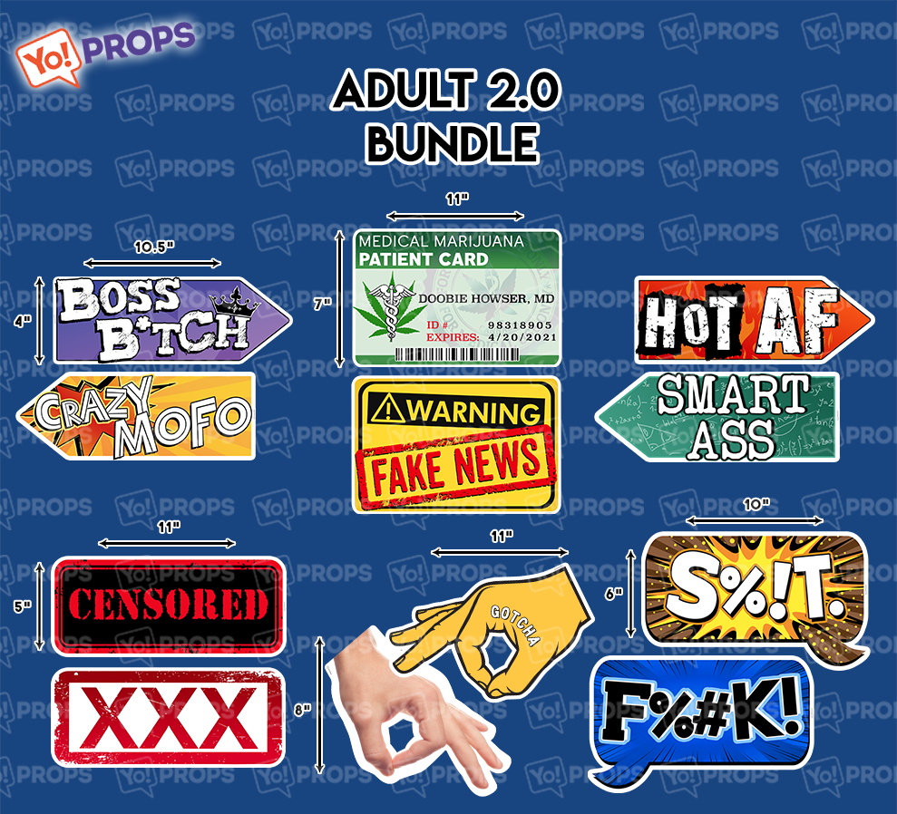 A set of (6) Adult 2.0 Bundle