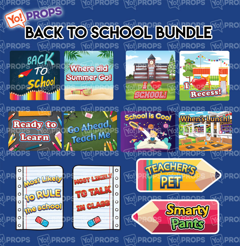 A Set Of (6) Signs – Back to School Bundle - Made to Order!
