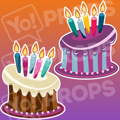 "Birthday Bundle Prop – ""Birthday Cakes"""