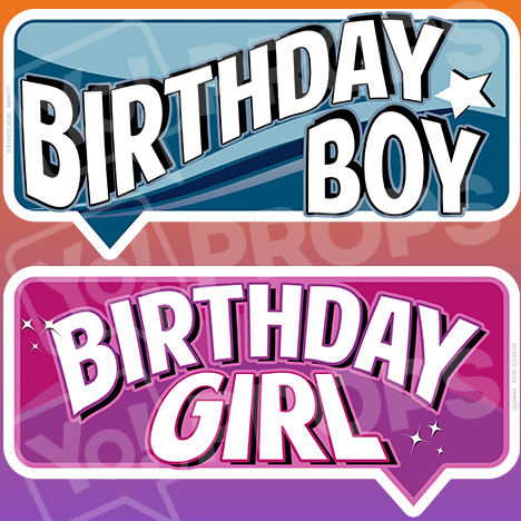 "Birthday Bundle Prop – ""Birthday Boy / Birthday Girl"""