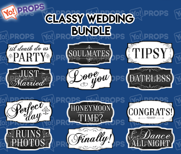 A Set Of (6) Classy Wedding Bundle