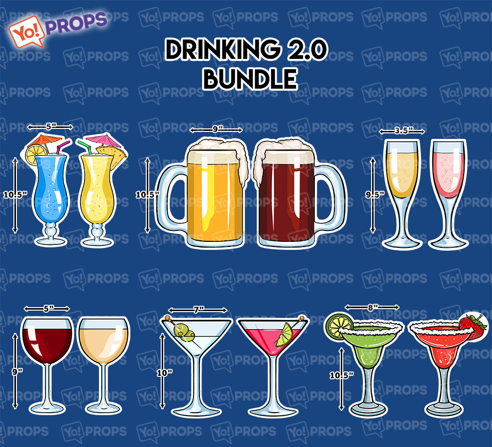 A Set Of (6) Props -  The Drinking 2.0 Bundle