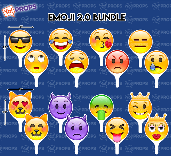 A Set Of (8) Emoji 2.0 Signs