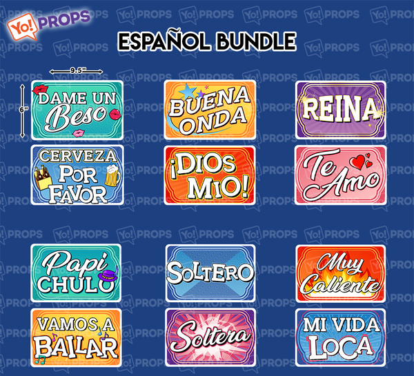 (Pre-Order) - A Set of (6) Props - Espanol Bundle