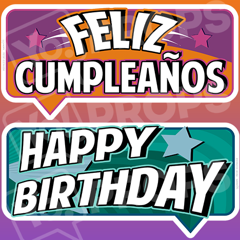 "Birthday Bundle Prop – ""Feliz Cumpleaños / Happy Birthday"""