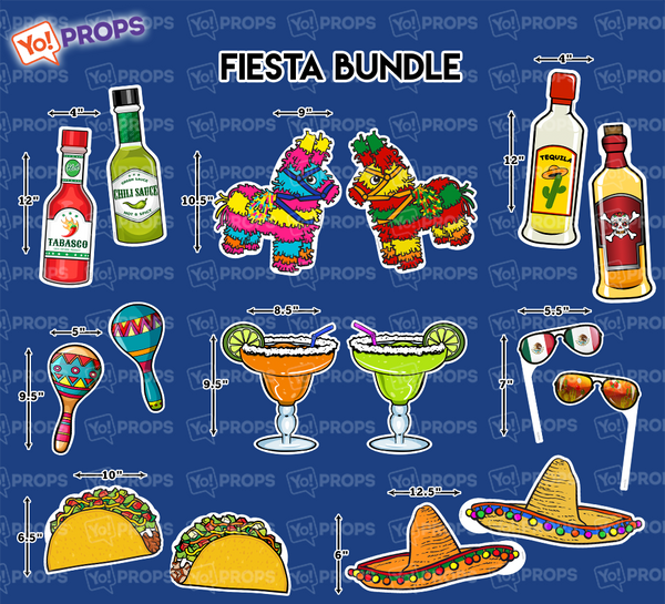 A Set Of (8) Props - The Fiesta Bundle