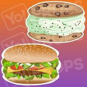 Food prop – Ice Cream Sandwich/Hamburger
