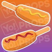 Food prop – Ketchup/Mustard on Corndog
