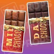 Food prop – Milk/Dark Chocolate Bar