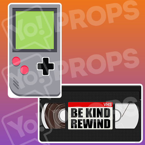 Retro - Gameboy & VHS Tape Prop