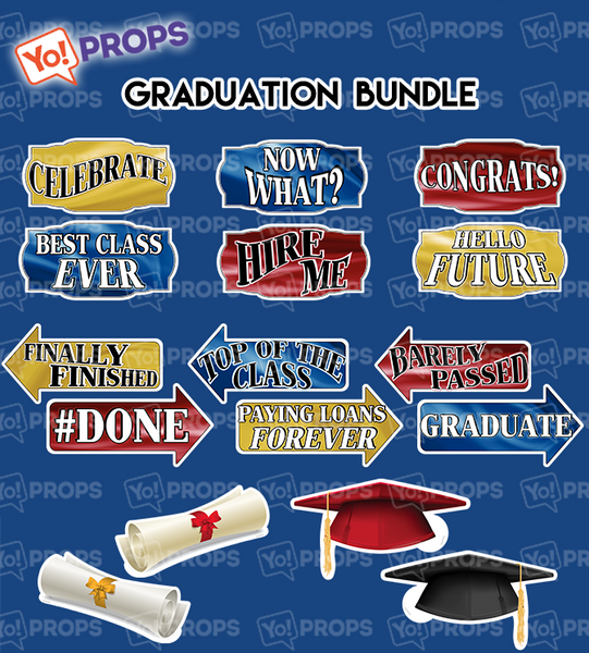 A Set of (8) Graduation Bundle