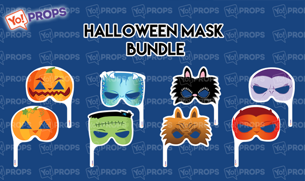 A Set Of (4) Mask Props – The Halloween Kid Friendly Masks Bundle