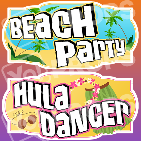 "Luau Prop – ""Beach Party / Hula Dancer"""