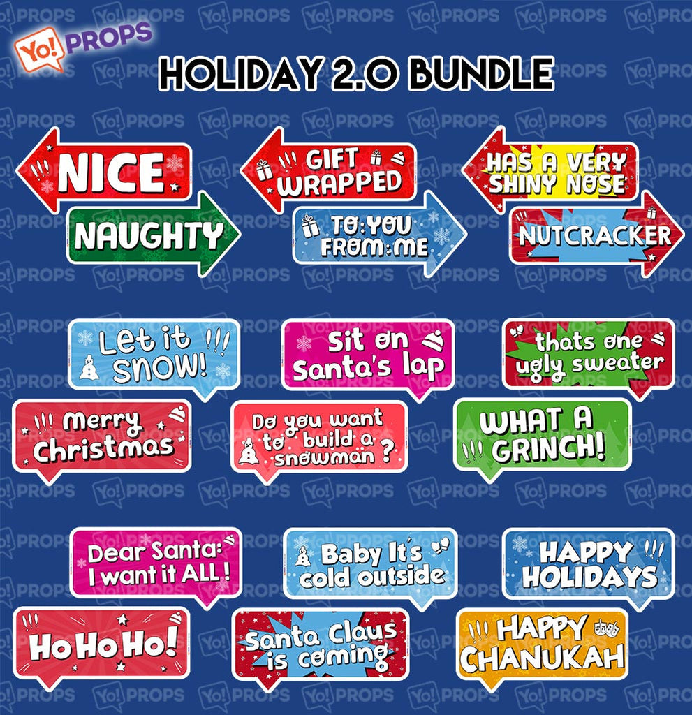 A Set of (9) Props – The Holiday/Christmas/xmas bundle