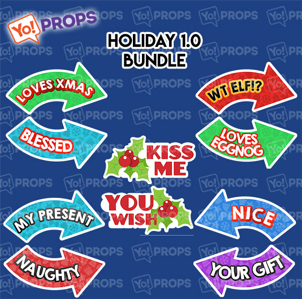 A Set of (5) Props – The Holiday/Christmas 1.0 Bundle