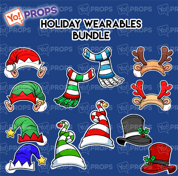 A Set of (6) Props – The Holiday/Christmas Wearable Bundle