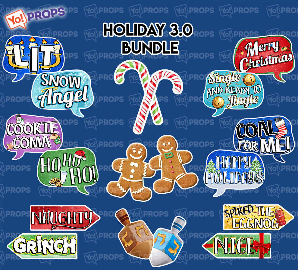 PREORDER - A Set of (9) Props – The Holiday/Christmas 3.0 Bundle