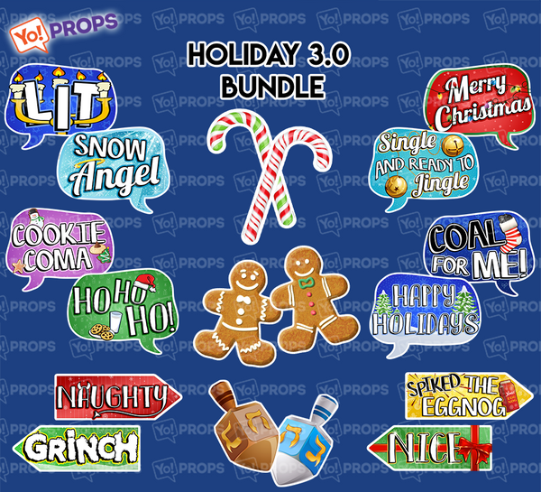 A Set of (9) Props – The Holiday/Christmas 3.0 Bundle
