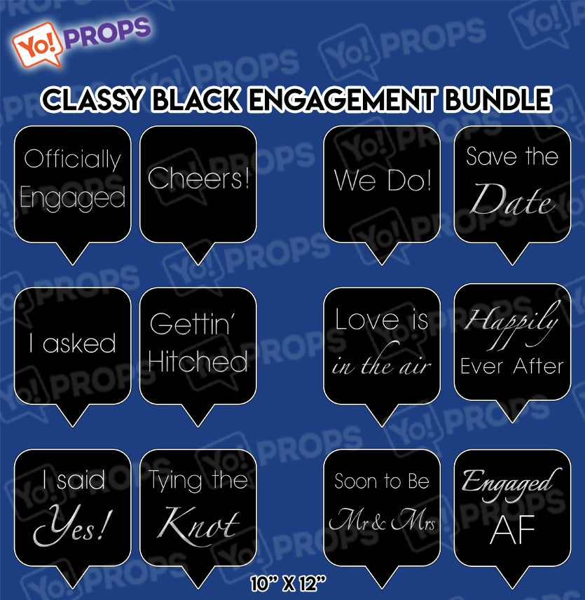 A Set Of (6) Classy Engagement Bundle