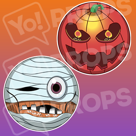 Jack o Lantern / Mummy Monster Emoji