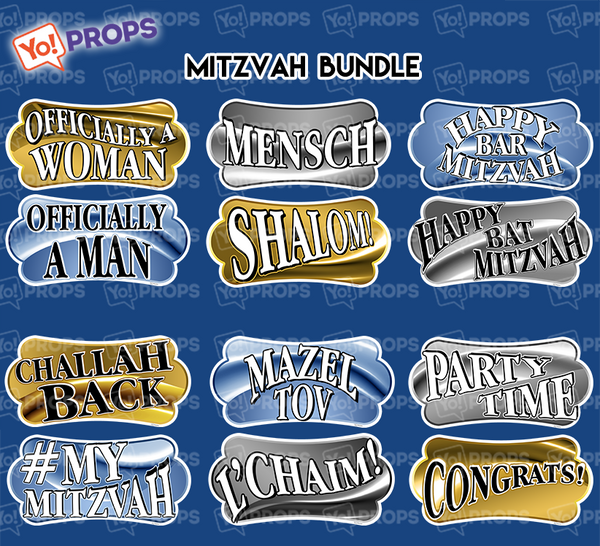 A set of (6) props - Bar Mitzvah Bundle