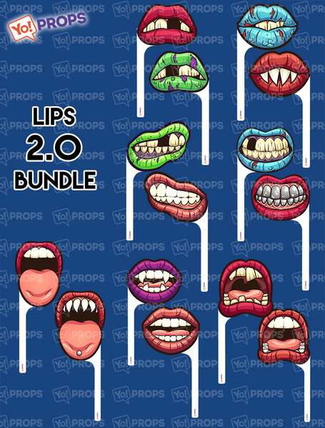 A Set Of (7) Mouths/Lips On A Stick – The Mouth 2.0