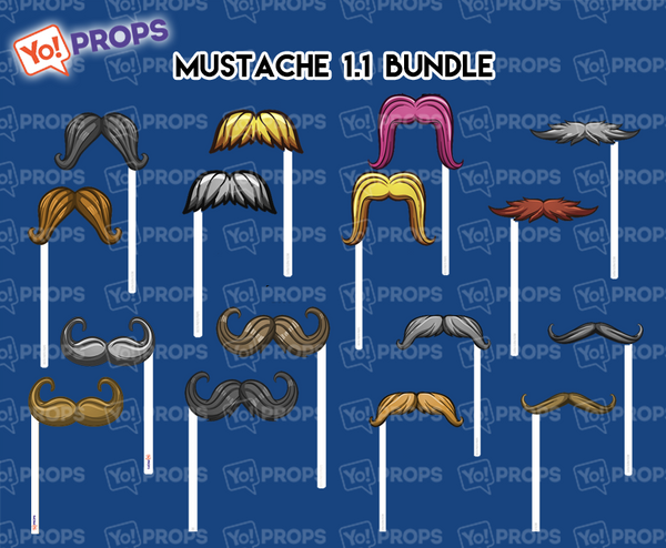 A Set Of (8) Mustaches On A Stick – The Mustache 1.1 Bundle