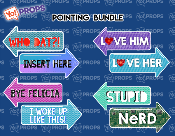 A Set Of (4) Signs – The Pointing Bundle