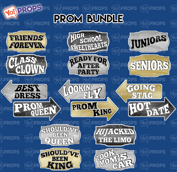 A Set Of (8) Prom/Dance/Social Bundle