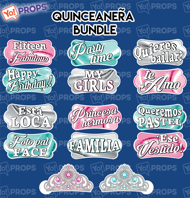 A set of (7) props - Quinceanera bundle