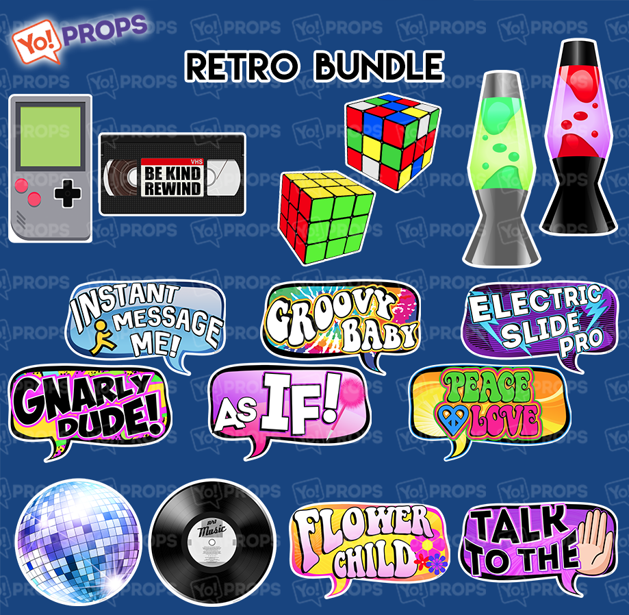 A Set Of (8) Signs – The Retro Bundle