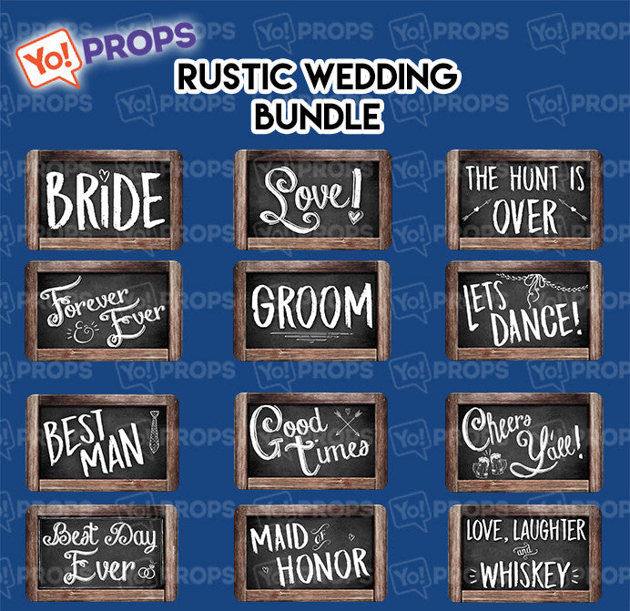 A Set Of (6) Rustic Wedding Bundle
