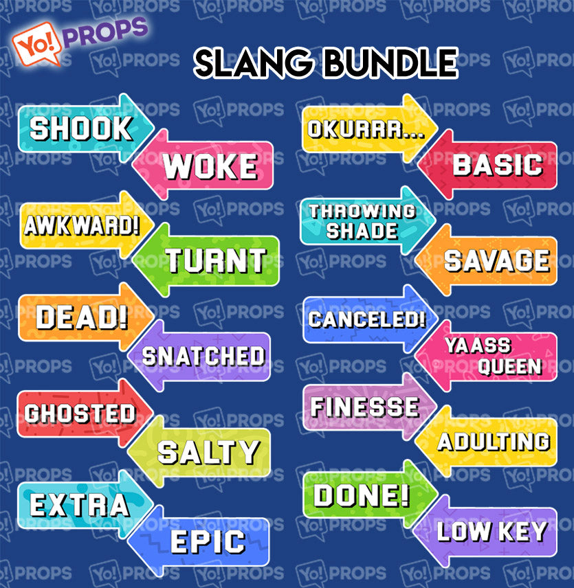 A Set Of (10) Signs – Slang Bundle