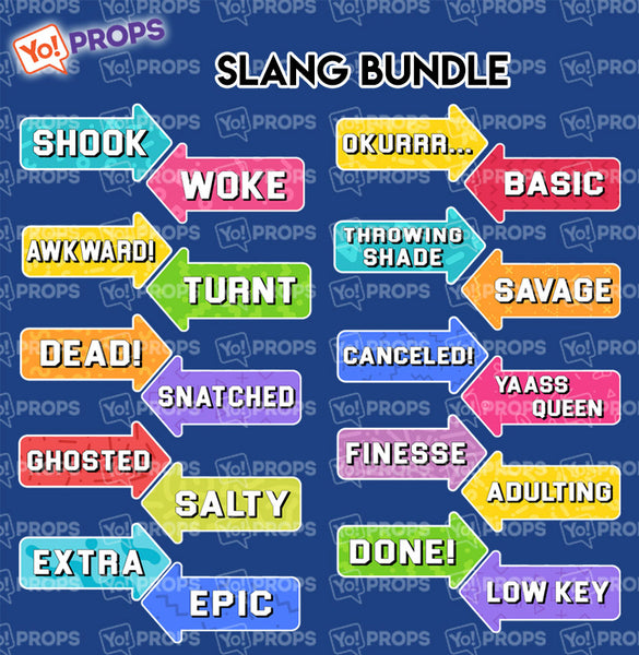 A Set Of (10) Signs – Slang Bundle - PRE-ORDER! IN STOCK AUGUST 15TH!