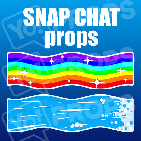 Snap Chat Props – Rainbow Puke / Waterfall Puke