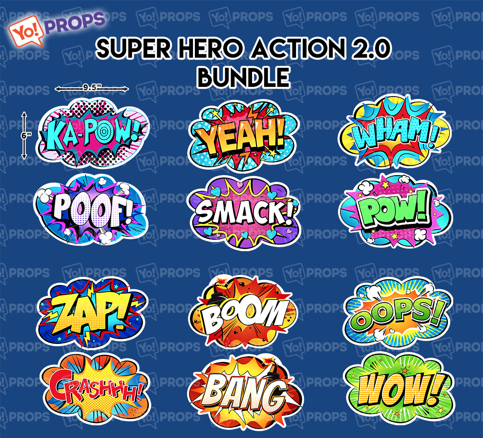 A Set Of (6) Signs – The Super Hero Action 2.0 Bundle