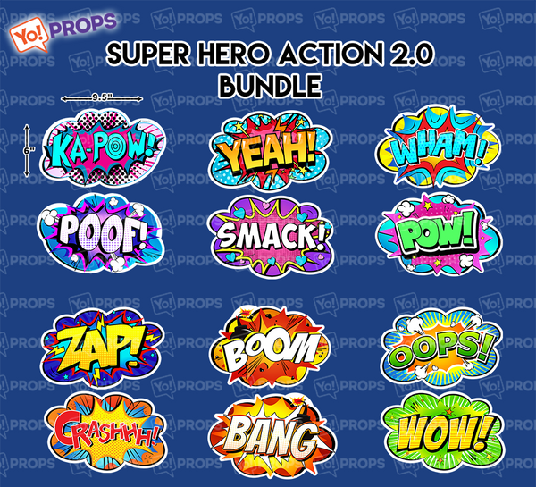 A Set Of (6) Signs – The Super Hero Action 2.0 Bundle-BACK IN STOCK 10/15