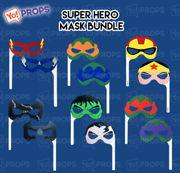 A Set Of (6) Masks – The Super Hero Masks Bundle