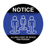 Individual Social Distancing Floor Stickers - Black Shoes on White