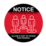 Individual Social Distancing Floor Stickers - Red Barefoot