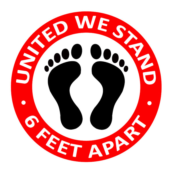 Individual Social Distancing Floor Stickers - United We Stand