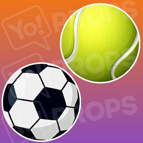 Sports - Tennis & Soccer Ball Prop