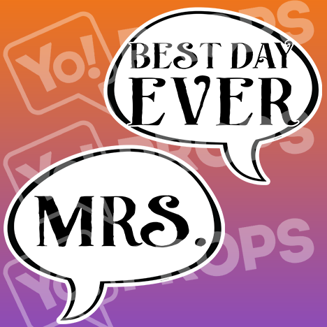 "Wedding Speech Prop – ""Best Day Ever / Mrs."""
