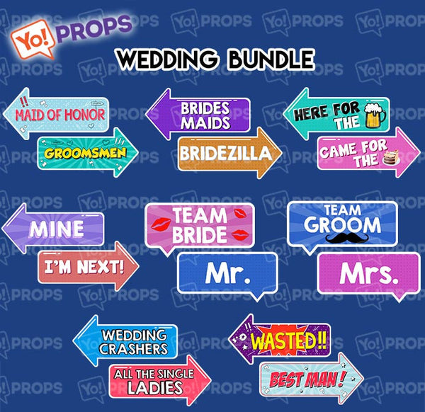 A Set Of (8) Signs – The Wedding Bundle