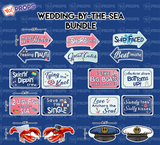 A Set Of (9) Props - The Wedding By The Sea Bundle