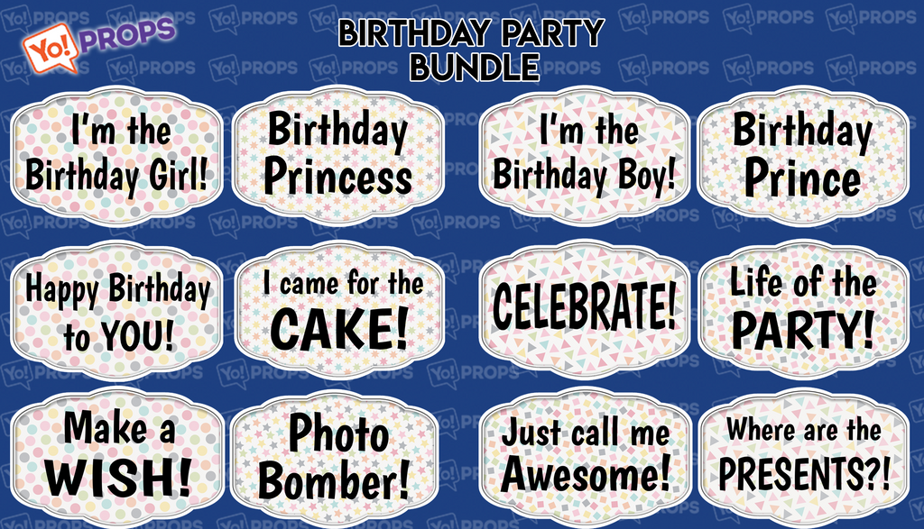 Birthday Party Bundle of (6)