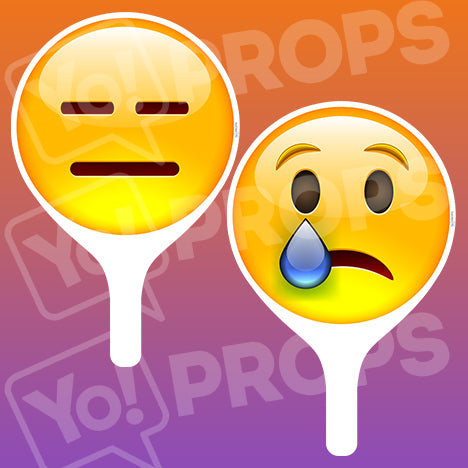 Emoji 2.0 Prop - Bored Face / Sad Face