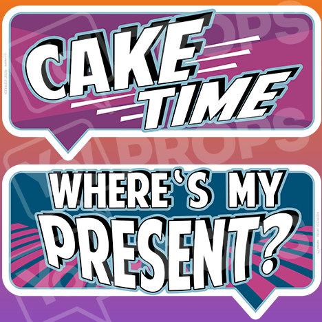 "Birthday Bundle Prop – ""Cake Time / Where's My Present"""