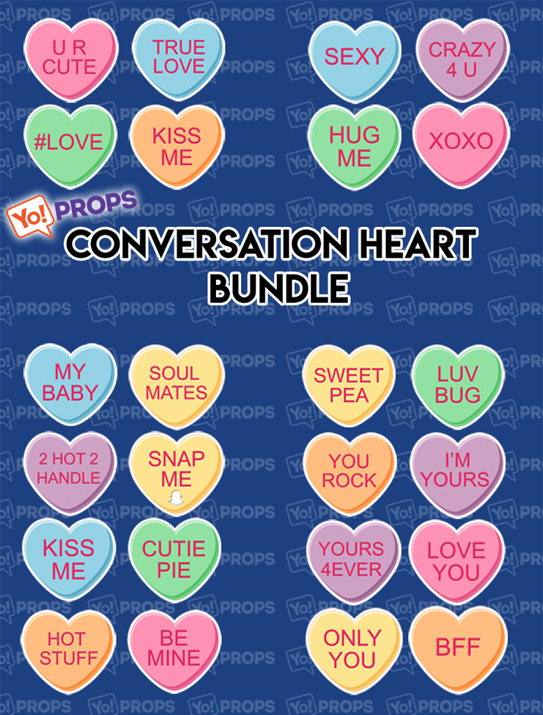 Conversation Hearts Bundle of (12)